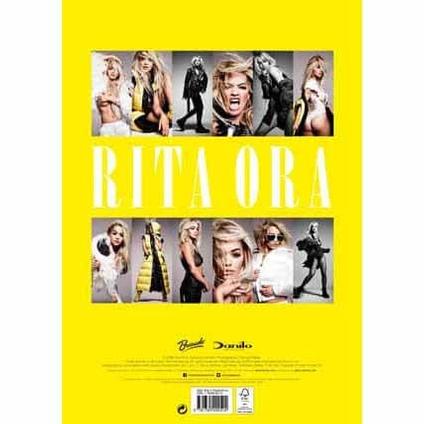 Rita Ora Official 2017 Calendar back cover