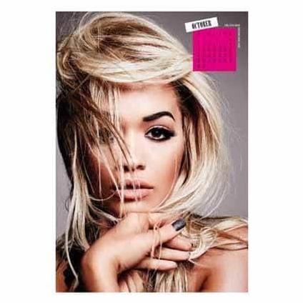 Rita Ora Official 2017 Calendar page