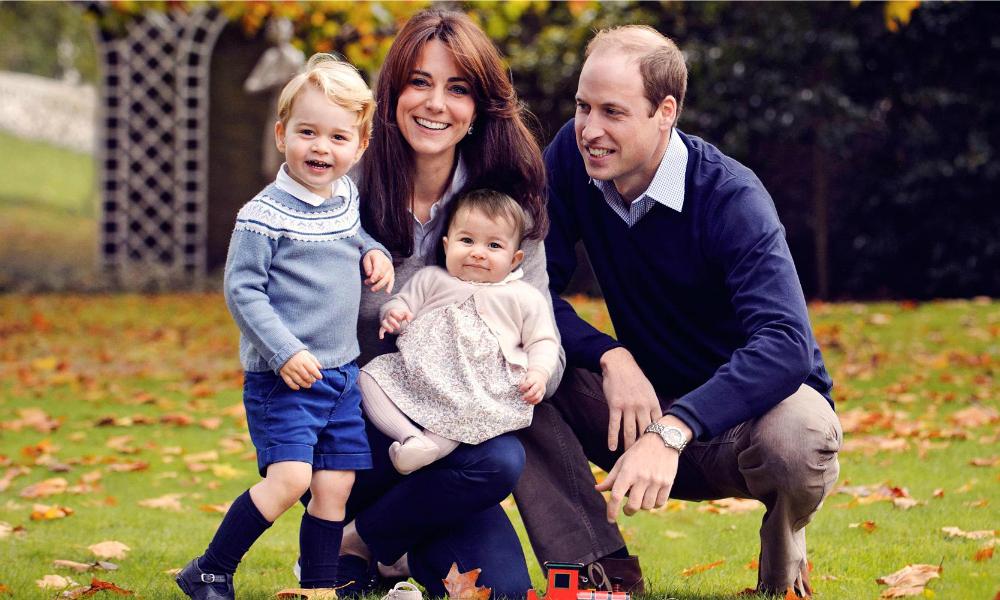 Príncipe William e Kate Middleton, e os filhos George e Charlotte