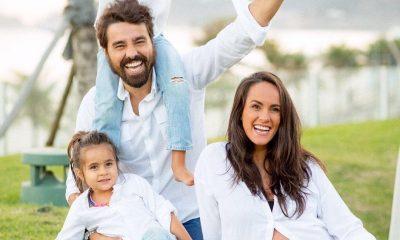 Ricardo e Francisca Pereira com os filhos