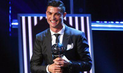Cristiano Ronaldo na entrega do prémio