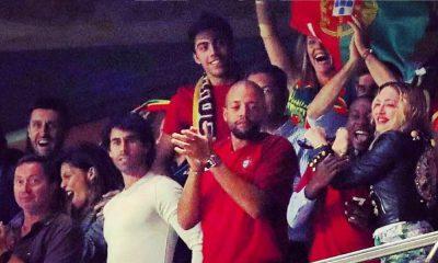 Madonna e Daniel Oliveira vêem o jogo de Portugal no mesmo camarote