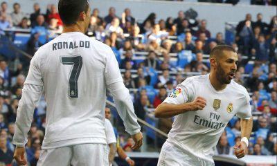 Cristiano Ronaldo e Benzema marcaram os golos do Real