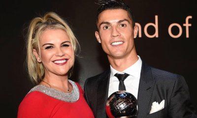 Katia Aveiro e Cristiano Ronaldo na gala da FIFA