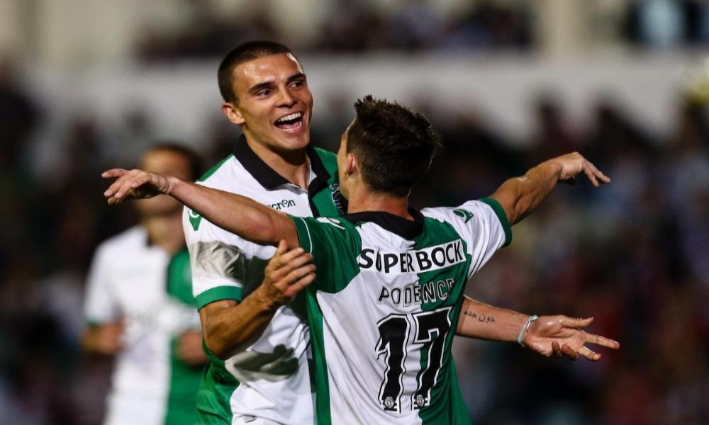 João Palhinha bisou no encontro em que Sporting ganhou por 4 a 2.