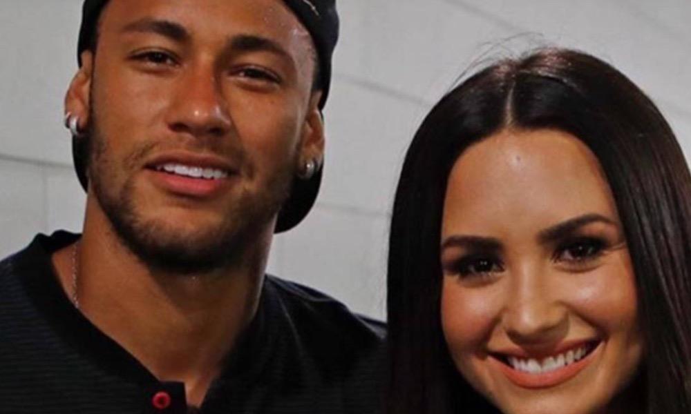 Demi e Neymar quando o jogador ainda estava no Barcelona