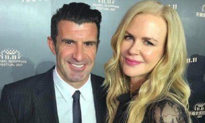 Luís Figo conheceu Nicole Kidman num evento na China