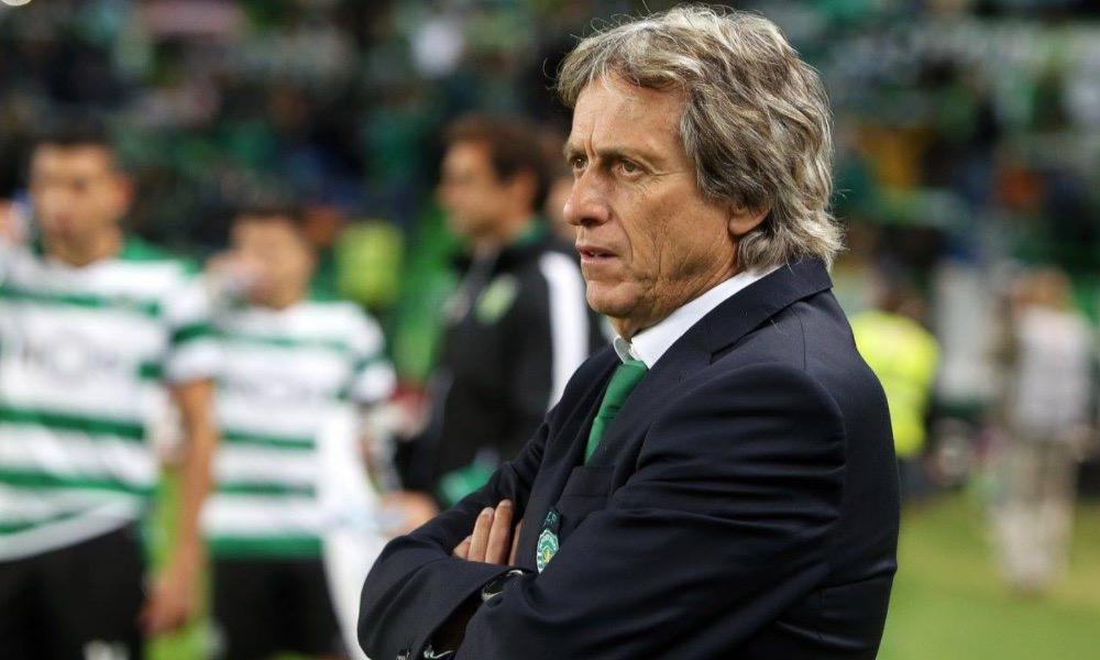 Jorge Jesus no jogo com o SC Braga
