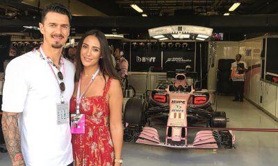José Fonte e a mulher em Abu Dhabi