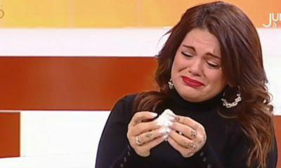 "Fanny Rodrigues chora em ""Juntos à Tarde"""