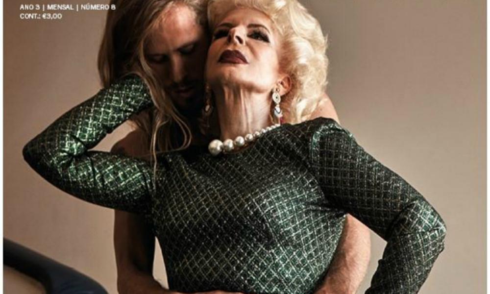 Lili Caneças com Michael Heverly na capa da revista Cristina