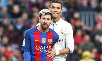 Cristiano e Messi num jogo entre Barcelona e Real Madrid