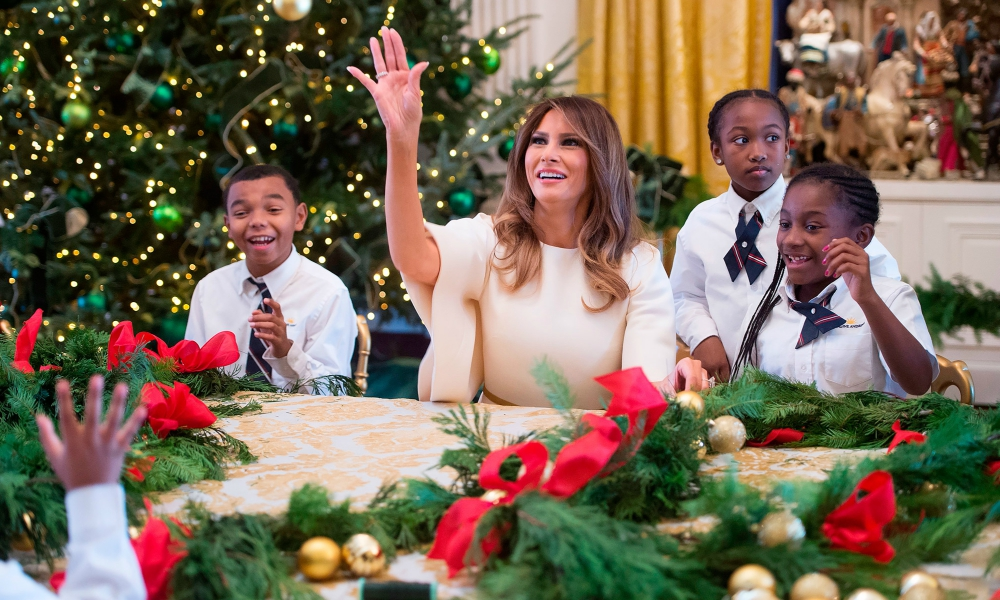 Melania Trump inaugura decorações natalícias na Casa Branca