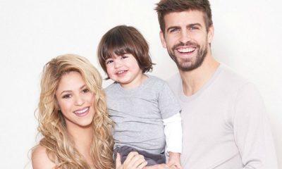 Shakira e Piqué com o filho Milan