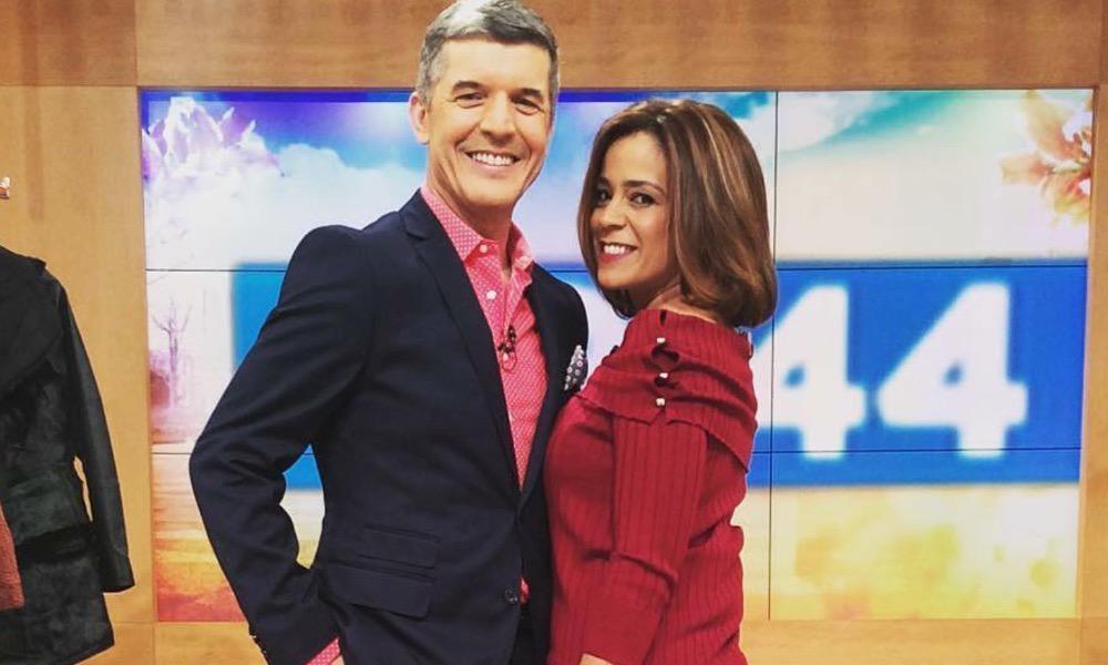Rita Ferro Rodrigues e João Baião no programa 'Juntos à Tarde'