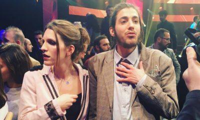 Salvador Sobral com a irmã na Eurovisão