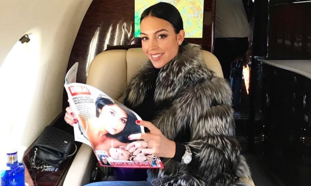 Georgina Rodríguez a caminho da gala da Bola de Ouro