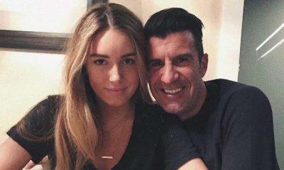 Luís Figo com a filha Daniela