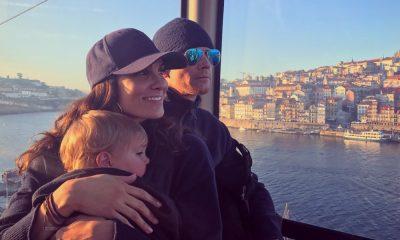 Daniela Ruah com o marido e o filho mais velho