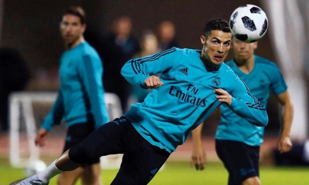 Cristiano Ronaldo em ação no Real Madrid