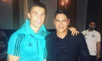 Cristiano Ronaldo com Ahmed Abou Hashima em Abu Dhabi