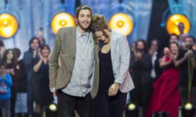 Salvador Sobral com a irmã Luísa Sobral na Eurovisão