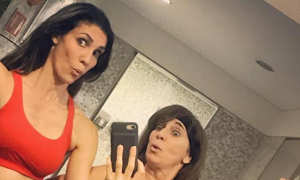 Daniela Ruah e a mãe