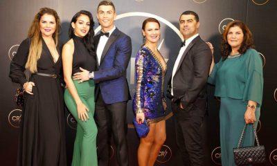 Cristiano Ronaldo e a família Aveiro na gala CR7