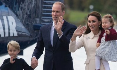 Príncipe George, príncipe William e Kate Middleton e princesa Charlotte