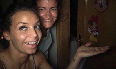 Luciana Abreu com a sua amiga Micaela
