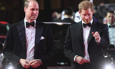 Príncipes de Inglaterra, William e Harry.