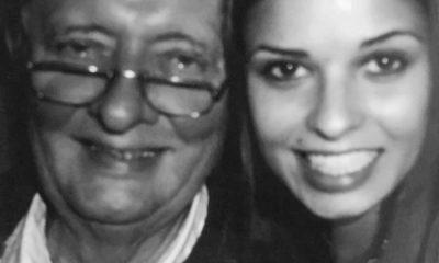 Vera Kolodzig com o pai