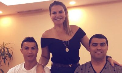 Kátia Aveiro com os dois irmãos