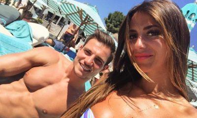 Cédric Soares com a namorada Filipa Brandão