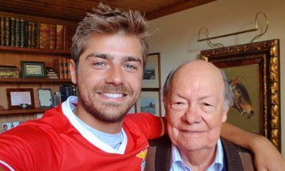 Lourenço Ortigão com o avô materno