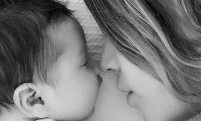 Tamara Gorro com o filho Antonio fruto da relação com Garay