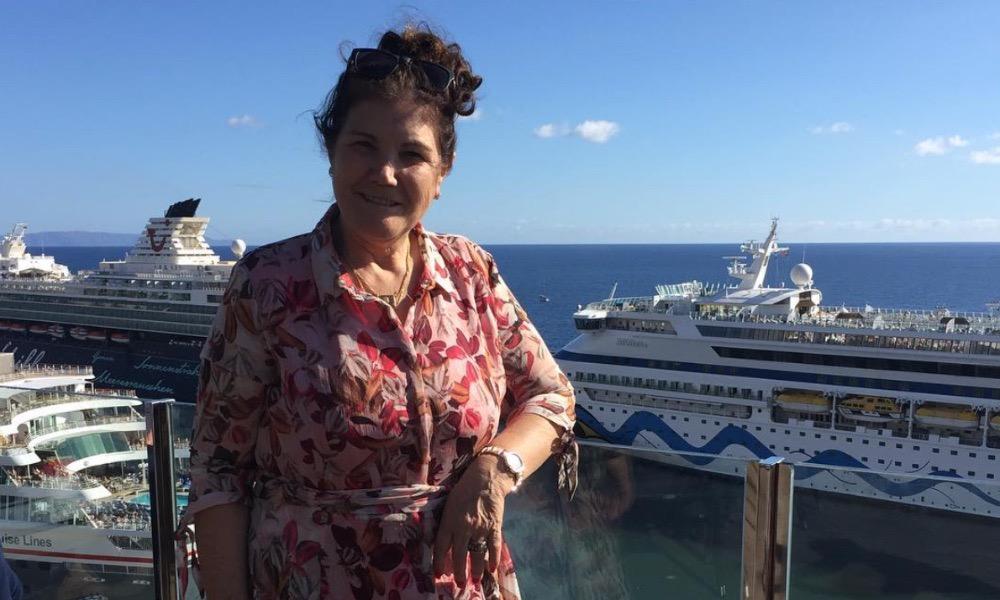 Dolores Aveiro antes da passagem de ano