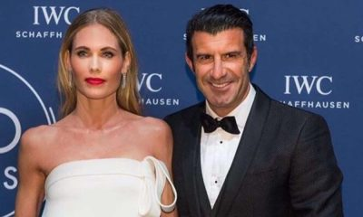 Helen Svedin e Luís Figo na gala da IWC