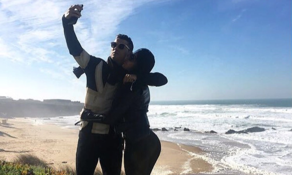 Cristiano Ronaldo e Georgina Rodríguez em Portugal