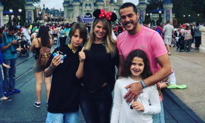 Susana Werner com Júlio César e os filhos