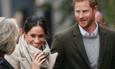 Príncipe Harry e Meghan Markle visitam Reprezent Radio em Brixton