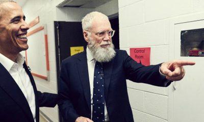 Barack Obama e David Letterman