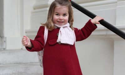 Princesa Charlotte no seu primeiro dia de aulas