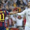 Cristiano Ronaldo e Neymar após um derby espanhol