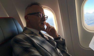 Manuel Luís Goucha no avião rumo a Paris