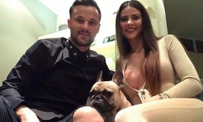 Seferovic com a namorada Amina na passagem de ano