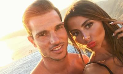 Cédric Soares com a namorada
