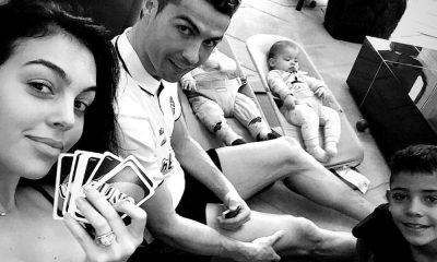 Georgina Rodríguez e Cristiano Ronaldo com os filhos