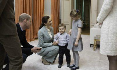William e Kate conhecem os filhos da Princesa Victoria da Suécia