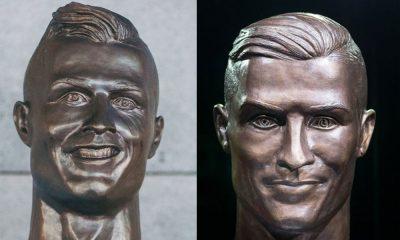 São visíveis as diferenças entre o velho e o novo busto de Cristiano Ronaldo